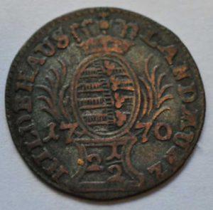 Avers Ernst Friedrich III. Carl 1770