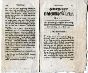 Anzeige 1797