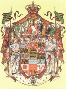 Großes Wappen dea Herzogtums Sachsen-Meiningen-Hildburghausen