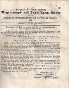 Herzogliche Proklamation 1