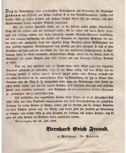 Herzogliche Proklamation