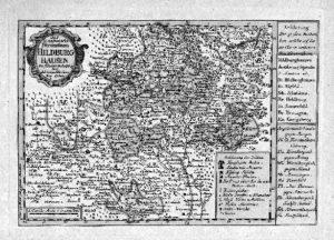 Karte des Herzogtums Sachsen-Hildburghausen