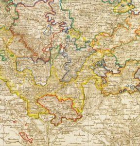 Kartenausschnitt Sachsen, Thüringen und benachbarte Länder