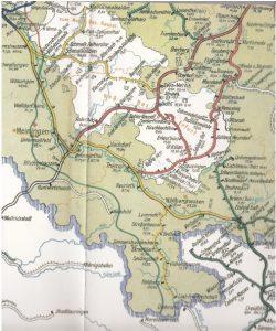 Übersichtskarte der Reichsbahndirektion