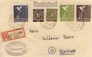 Einschreibebrief 1948