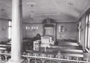 Gebetsraum der jüdischen Synagoge