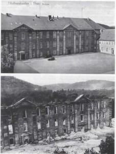 Abgebranntes Schloss 1945