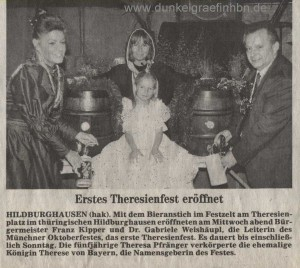 Erstes Theresienfest