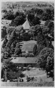 Blick vom Radefeldschen Haus