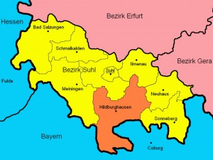 Der Bezirk Suhl und seine Kreise