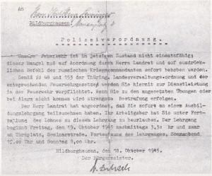 Polizeiverordnung 18.10.1945