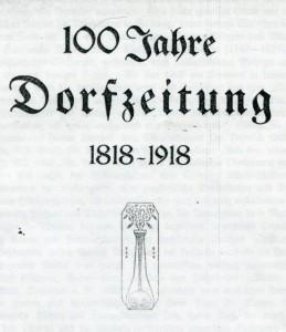 100 Jahre Dorfzeitung