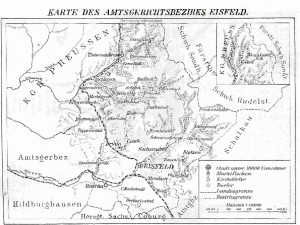 Karte Eisfeld