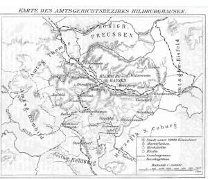 Karte Hildburghausen